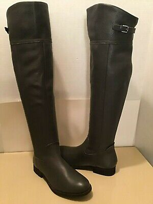 FRANCO SARTO WOMEN'S GRAY LEATHER OVER THE KNEE BOOTS SIZE 6 MEDIUM