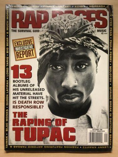 RAP PAGES Tupac September 1998 MEMORABILIA VINTAGE RARE