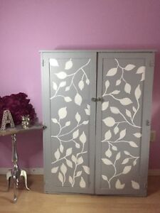 Hand painted wooden cabinet