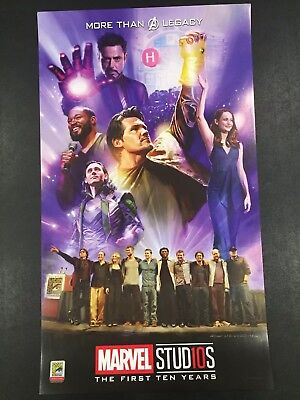 SDCC 2018 Marvel Studios Exclusive New First 10 Years Commerative Poster
