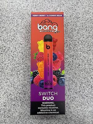 bang Disposable XXL Switch Duo 2500 Puffs Verry berry& Gummy Bear Salt-Nico 6%