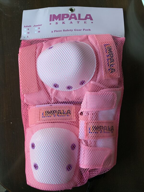PINK IMPALA SKATE ADULT PROTECTIVE GEAR SET - Size L - OCT 2020 Version - NEW