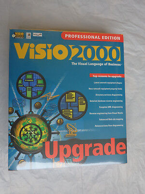 Visio 2000 Professional Upgrade  New Factory Sealed Retail Box