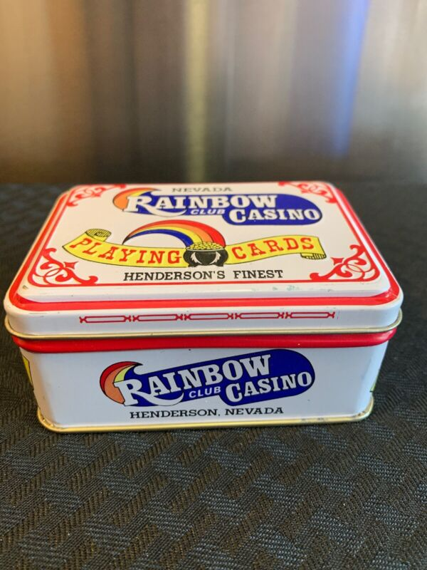 Nevada Rainbow Club Casino Playing cards In Tin. Henderson's Finest.