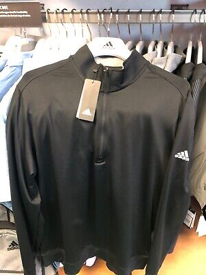 Adidas Golf Classic Club 1/4 Zip Pullover Size Large Black