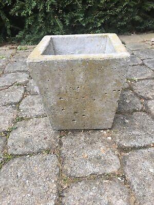 Vintage Antique Concrete 17cm Garden Planter