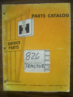 Ih Farmall Mccormick International 826 2826 Parts Manual