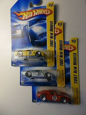 Hot Wheels 2007 Ferrari 250 LM --  3 cars Factory Sealed Set red silver yellow