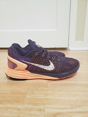 Nike Lunarglide 7 Womens Size 8.5 Running Shoes Purple/Coral/White