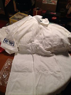 Napa Auto Parts Center White Polo Shirt   Size Large