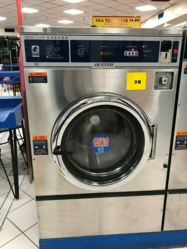 Dexter T-900 Mega-Load 60lb Washer 1 or 3-ph Stainless, T900 E STOP