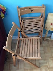 Folding chairs wooden