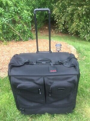 EXC TUMI ALPHA XL EXTRA LARGE Rolling Garment Bag Suitcase Luggage #2240D3 Black