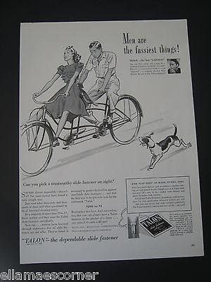 Vintage 1940 Talon Zipper Original Print Ad