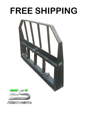 Es Combo Fork Bale Spear Frame Only Qa Attachment Skid Steer - Free Shipping