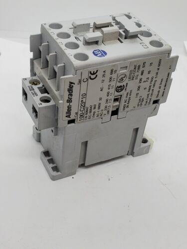 Allen Bradley 100-C23*01 Contactor Relay 110-120VAC Coil, 3-Pole + 1NC, 30A