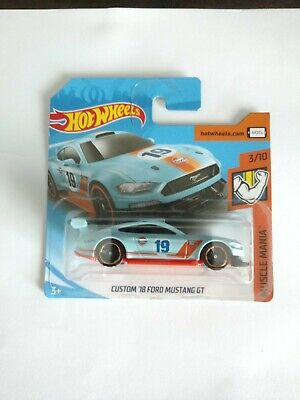 HOT WHEELS (BLUE) 2019 MUSCLE MANIA CUSTOM '18 FORD MUSTANG GT GULF SHORT CARD