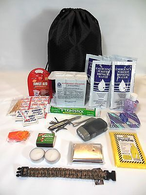 ZOMBIE SURVIVAL KIT WITH FOOD AND WATER RATIONS  EMERGENCY DISASTER HURRICANE