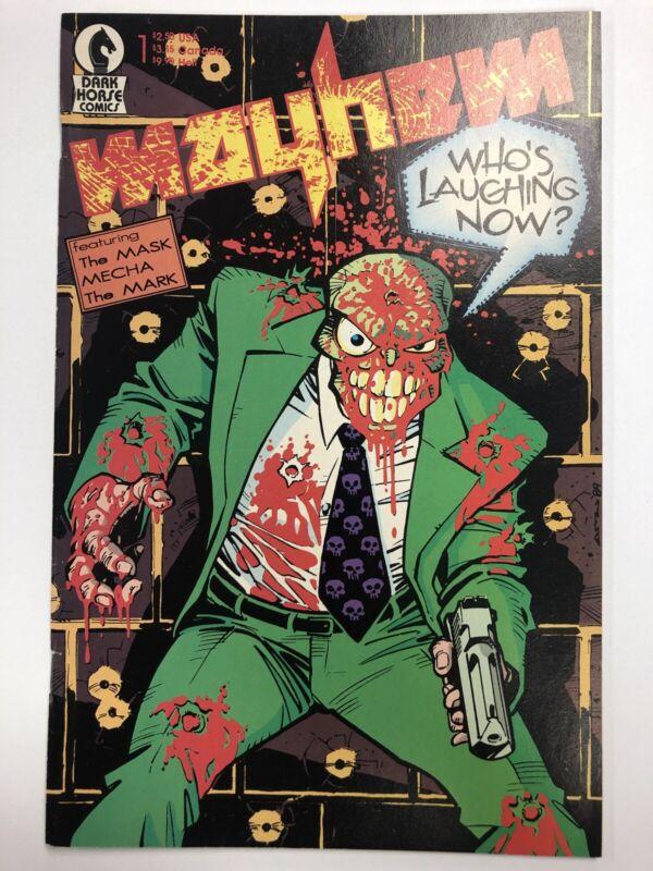 Mayhem #1 Early Appearance Of The Mask 1989 Dark Horse Comics Free Shipping!