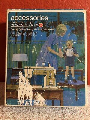 Singer Sewing Machine Touch & Sew Accessories Zig Zag Machine Model 648 Discs