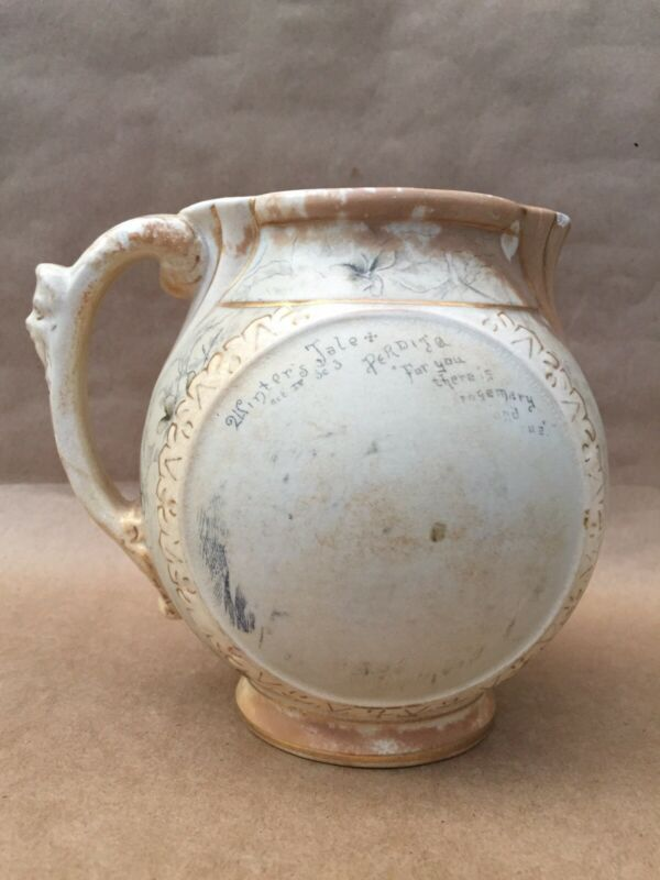 Antique Chesapeake Pottery SevernWare Ironstone Pitcher w Crazing & Coloration