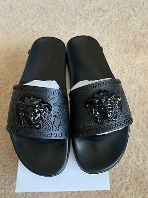 Versace Slides Men/Women Black