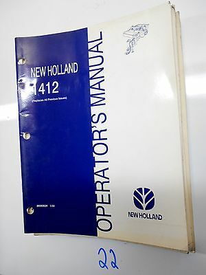 New Holland 1412 Discbine Mower-conditioner Owner Operator Manual 86593534 599