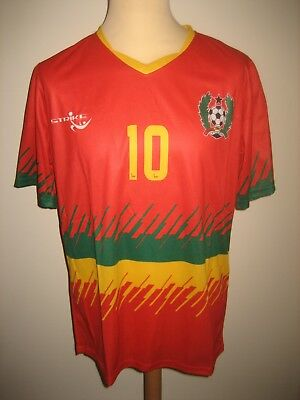 Guinea-Bissau NUMBER 10 home CAF football shirt soccer jersey maillot size M image