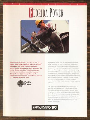 Wellfleet Communications - Florida Power Applications Sales Brochure (1993)