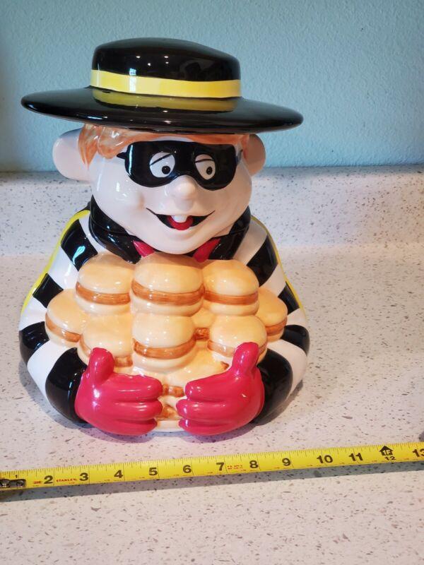 1997 RARE McDonalds Hamburglar Cookie Jar. Treasure Craft *FAST FREE SHIPPING