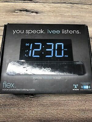 IVEE Flex Voice Controlled Talking Radio Alarm Clock Model: iv2b