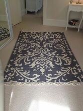 Rug - gunmetal blue and ivory pattern Mosman Mosman Area Preview