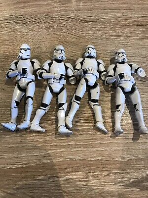 STAR WARS CLONE TROOPER STORM COMMANDER FIGURES BEATER BUNDLE JOBLOT X 4