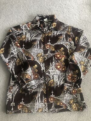 1970s Men's Shirt Styles – Vintage 70s Shirts for Guys All Polyester Vintage 1970's Hawaiian Shirt by Don Loper Sz Large Long Sleeve $34.95 AT vintagedancer.com