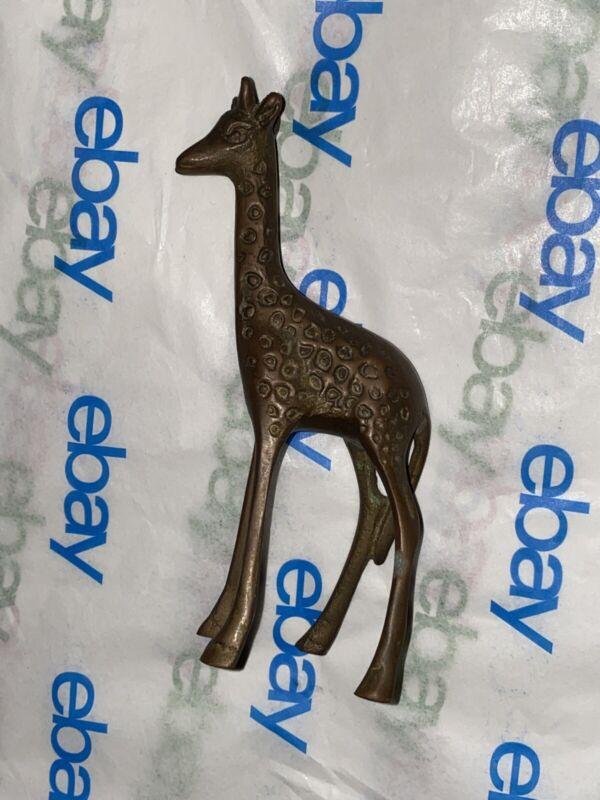 Bronze Giraffe Figurine