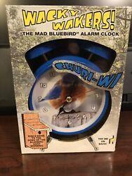 Wacky Wakers The Mad Bluebird Alarm Clock NIB
