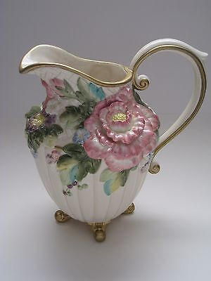 "Fitz & Floyd Spring in Bloom Pitcher - 9 1/4"" high ***BEAUTIFUL***"