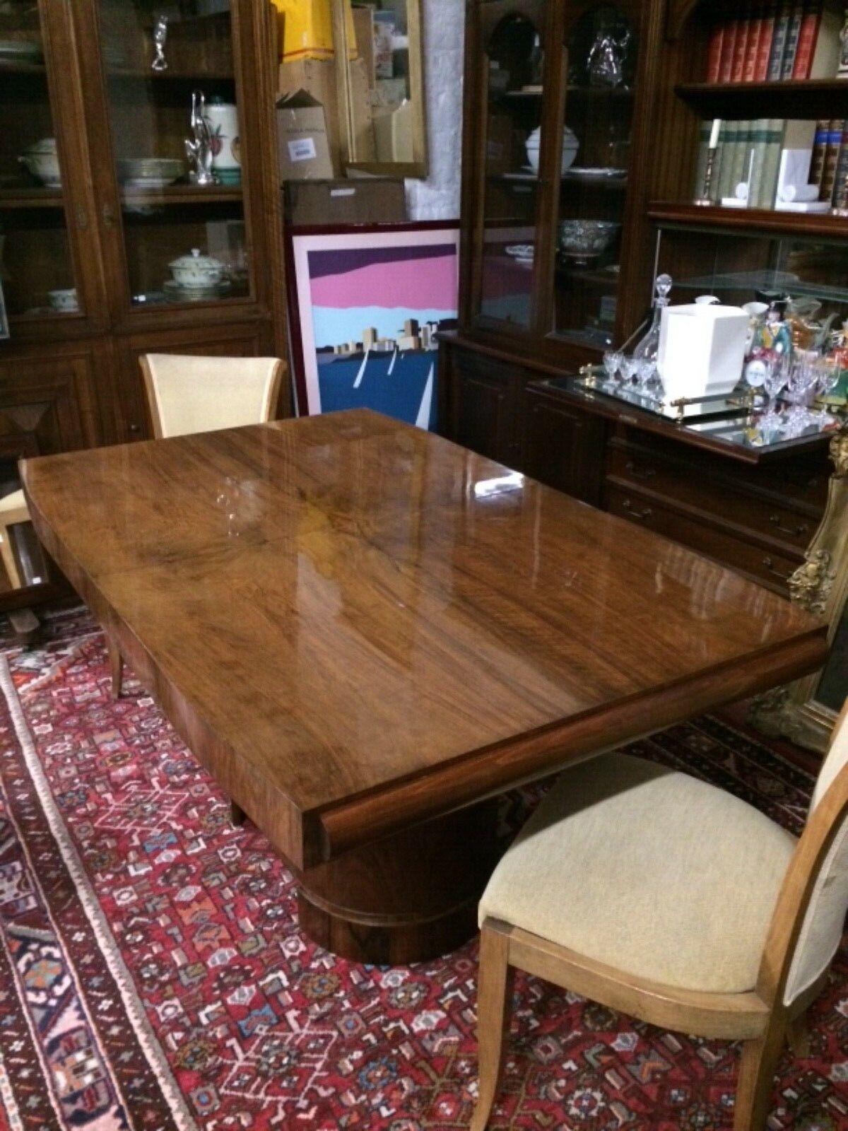 Ensemble table et chaises Art deco