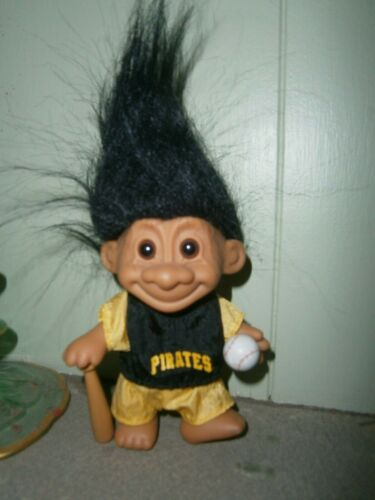 "Vintage PITTSBURG PIRATES GOOD LUCK SPORTS TROLL  - 5"" Russ Troll Doll"