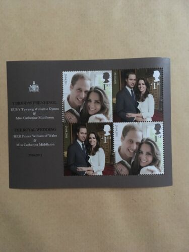 HRH Prince William and Catherine Middleton. Royal Wedding Stamps. UK. Mint
