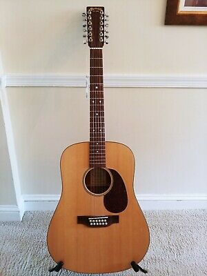 Martin DM12 12 String Dreadnought Acoustic Guitar w/Martin Hardshell Case RARE