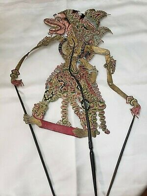 Prabu Subali Indonesian Shadow Puppet Wayank Kulit Leather Polychrome AS IS