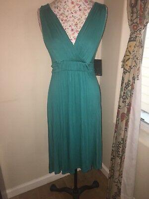 NWT Ella Moss Grecian Style Empire Waist Dress Blue Green Turquoise Maternity - Ella Moss Maternity