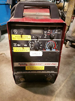 Lincoln Invertec V300-pro Inverter Type Power Source Wln-742 Wire Feeder