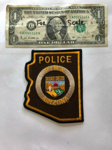 Pima Arizona Police Patch Un-sewn in mint shape (harder to find state shape)