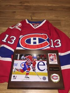 Montreal Canadiens Cammalleri Reebok jersey with picture frame