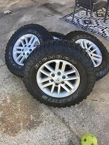 "2014 17"" Hilux SR5 Rims and Mud tyres 275/70/17 Banyo Brisbane North East Preview"