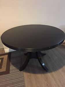 Solid Wood Black Kitchen Table