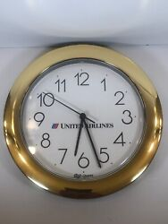 United Airlines Wall Clock By Top-U.S.A Corp Quartz AA Battery Operated
