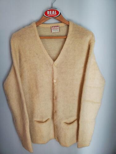 Vintage McGregor Mohair Cardigan Cobain Sweater Grunge Fuzzy Men